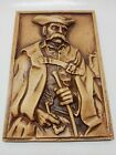 Vintage Clay 3D Hungary WALL PLAQUE Man 11x7.5 Home Wall Decor Hangings