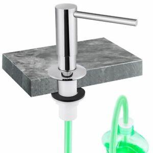 Brass Soap Dispenser Extension Tube Kit Bottle Replacement Kitchen Sink Metal 1p
