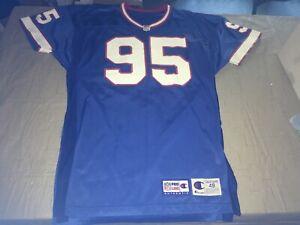 Authentic Pro Line Adult 48 Bryce Paup #95 Buffalo Bills Champion Jersey Blue