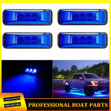 4x Blue Led Rock Lights Neon glow Light For Jeep Off Road Utv Atv 4x4 Rzr Boat