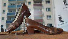 Damen Pumps GERWINA braun TRUE VINTAGE Schuhe shades of brown  6 H granny styl