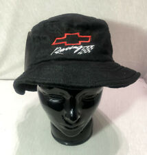 Chevrolet Racing Black Bucket Hat Micro Furr GM Chevy Logo Cap New 👀 👍🏼 🔥