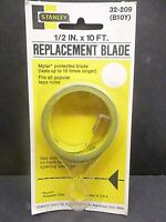 Stanley 1/2''x10' Replacement Blade 32-209 (B10Y) Tape Measure Refill USA
