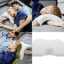 Couple Pillow Memory Foam Curve Curved Shaped Neck Sleeping Protection Rebound