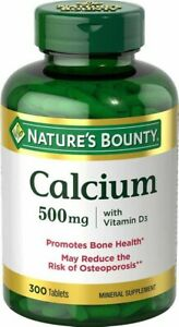Nature's Bounty Calcium - 500 mg - 300 Tablets