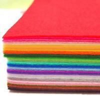 40pcs Set 150x150mm Filz Meterware Bastelfilz Stoff basteln Farbenfroh Farben