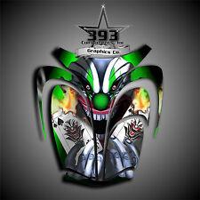 Arctic Cat ZR 600, 500, 800 Mountain Cat Graphics Wrap Evil Joker Hood Green