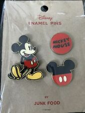 New listing Disney Mickey Mouse Enamel Pin Set By Junk Food