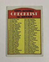 1972 Topps 1st Series Checklist # 4 Baseball Card