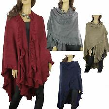 Knee Length Ponchos Unbranded None Coats & Jackets for Women