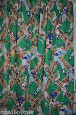set of 2 MLB BASEBALL vintage CURTAINS MLB 1980s
