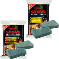 Trollull Cleaner Pads Non Scratch Pack For Stove Glass Cleaning Woodburning 2 Pk