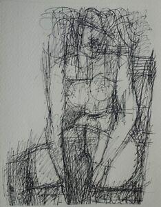 Marcel GROMAIRE : Modèle nu assis  - GRAVURE en noir #1952 + certificat