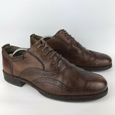 Caterpillar Dougald Lace Up Oxford Brown Leather Shoes Brogues Mens UK 8 Vintage