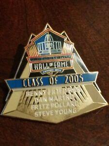 2005 nfl hall of fame pin football hof induction dan marino steve young
