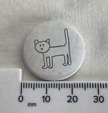 Line Art - Cat - Retro Collectable Pin Badge / Button