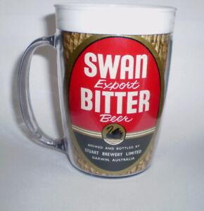 Australian plastic beer mug  CHECK THE LABELS - RARE  -  Swan