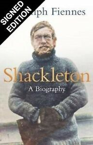 RANULPH FIENNES  AUTHENTIC SIGNED SHACKLETON BOOK AFTAL#198