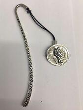 Julius Caesar WE-C1 Roman Coin Pattern bookmark & cord 3D English pewter charm
