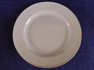 "Gibson Anniversary Gold 10"" DINNER PLATE gold trim & inner ring DISCOUNTED"