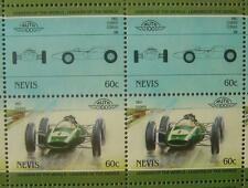 1960 COOPER CLIMAX F1 GP Race Car 50-Stamp Sheet / Auto 100 Leaders of the World