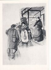"Théophile Steinlen ilustr. to A.France's ""Crainquebille"" Russian Soviet postcard"