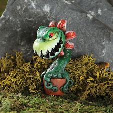 Chomper Man Eating Plant Stake GO 17590 Miniature Fairy Garden Dollhouse