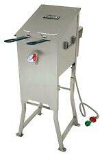 Bayou 700-701 4 Gallon Stainless Steel Propane Deep Fryer w/ Basket & Regulator