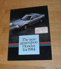 Honda Range Brochure 1984 - Jazz Civic Accord Prelude