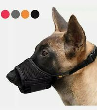 Heele Dog Muzzle Nylon Soft Muzzle Anti-Biting Barking, Size Medium