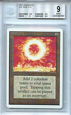 MTG Unlimited Sol Ring BGS 9.0 (9) Mint Card Magic The Gathering WOTC 7597