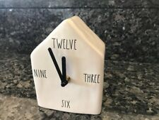 Rae Dunn Unique Birdhouse shaped Clock Brand New (with 4 words) Rare Exclusive