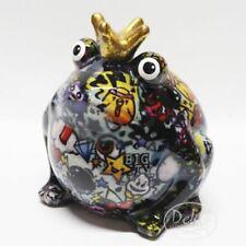 Spardose Froschkönig m Truhe Metall Handbemalt Kunsthandwerk Deko 3 Designs