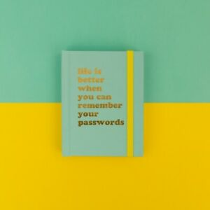 Life is better PASSWORD BOOK Mini pocket pad Small Handbag reminder New