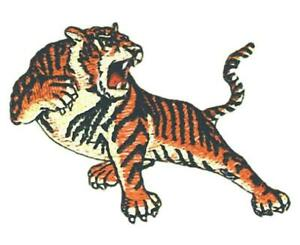 Machine Embroidered Applique Tiger size 3.0 in x 2.1 in
