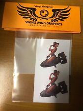 Cowgirl Pinup Bomber Vinyl Graphic Decal RC aircraft radio control WWII models