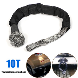 10T Car Trailer Rescue Towbar Towing Connecting Rope Winch Pull Line Cable Nylon
