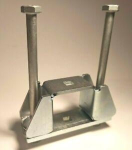 4 mm M10 schwerlast Rohrhalter Quadratrohrschelle Rohr Wandhalter Schelle