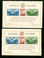San Marino Stamp S/S Perf & Imperf XF OG NH Scott $230