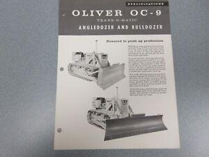 Rare Oliver OC-9 Crawler Dozer Sales Sheet 1960