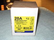 Square D Qob120Vh1021 Shunt Circuit Breaker 1 pole 20 amp 120/240v