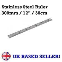 """300mm 12"""" 30cm Stainless Steel Ruler Metric Imperial Engineers Rule Measuring"""