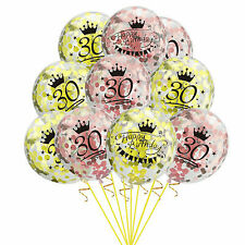 Rose Gold Happy Birthday Number 30 40 50 Confetti Filled Balloons Party Decor