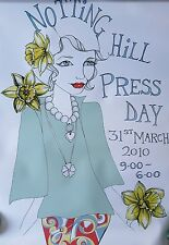 NEW NOTTING HILL SPRING 2010 FASHION PRESS DAY POSTER ADVERTISER 42 x 60 cm