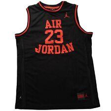 Nike Air Jordan 23 Basketball Boys Jersey Youth Size Large Black Red Sewn 2e8f6c43a