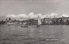 SW-Ansichtskarte Lausanne - Ouchy, echt gel. n. Istanbul 1938
