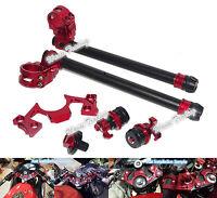 CNC Adjustable Handlebars Clip-On Fork Set Red For 08-12 KAWASAKI Ninja 250R
