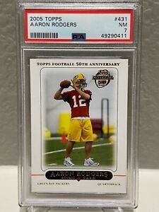 2005 Topps Aaron Rodgers #431 Rookie Card PSA 7 NM