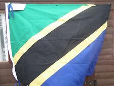 More details for tanzania quality flag - tanzanian national flags - machine sewn   4x3 feet