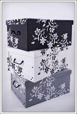 Aufbewahrungsbox 3er Set - 8 Motive Auswahl - Box Stapelbox Dekobox Geschenkbox
